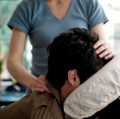 Seated, clothed massage
